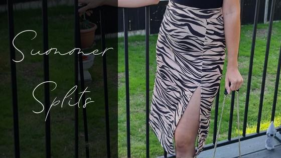 Split midi summer dress, split midi skirt